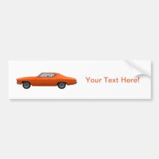 1969年のChevelle SS: オレンジ終わり バンパーステッカー