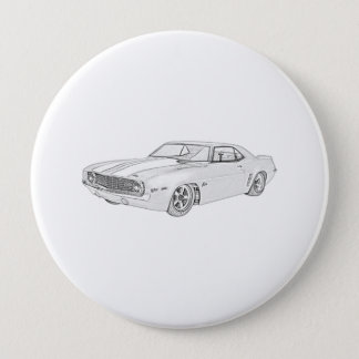 1969年のChevy Camaro 10.2cm 丸型バッジ