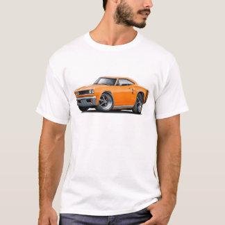 1969年のCoronet RTのオレンジ黒い車 Tシャツ