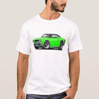 1969年のCoronet RTのライム黒い上車 Tシャツ