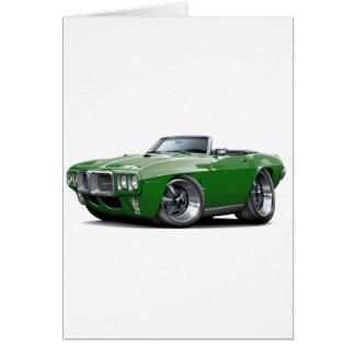 1969年のFirebirdの深緑色のコンバーチブル カード