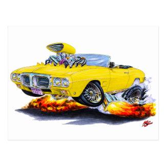 1969年のFirebirdの黄色いコンバーチブル ポストカード