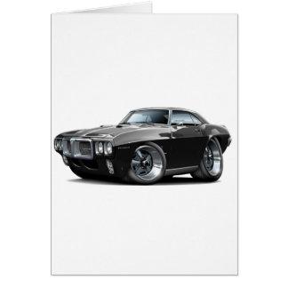 1969年のFirebirdの黒い車 カード