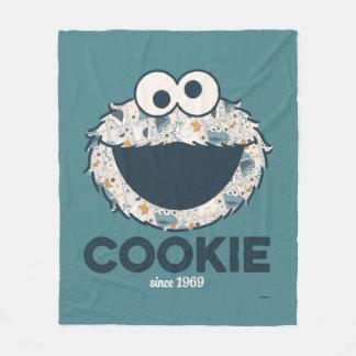 1969年以来のクッキーモンスター のクッキー フリースブランケット