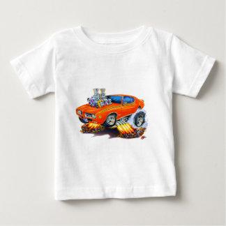 1969 GTOの裁判官のオレンジ車 ベビーTシャツ