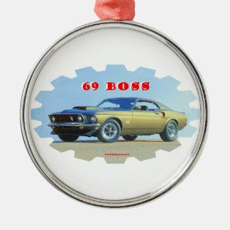 1969_Mustang メタルオーナメント