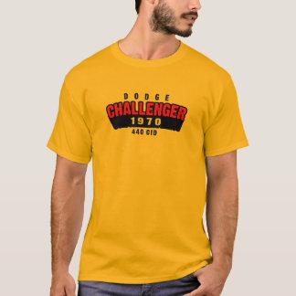 1970のごまかしの挑戦者の穴居人の影 Tシャツ