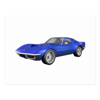 1970年のコルベットのスポーツ・カー: 青い終わり ポストカード
