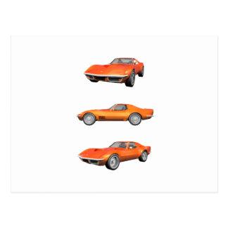 1970年のコルベット: オレンジ終わり ポストカード
