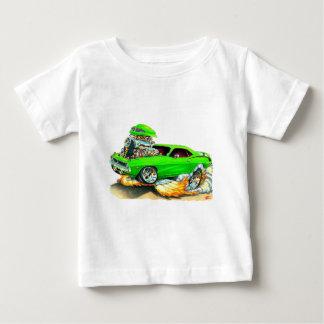 1970年のプリマスCudaの緑車 ベビーTシャツ