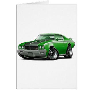 1970年のBuick GSXの緑車 カード