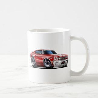 1970年のChevelleのあずき色白の車 コーヒーマグカップ