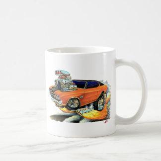 1970年のChevelleのオレンジ黒い上車 コーヒーマグカップ