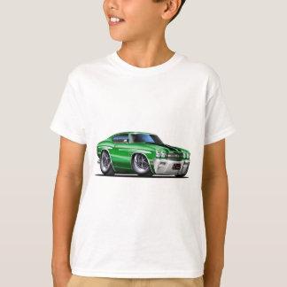 1970年のChevelleの緑黒い車 Tシャツ