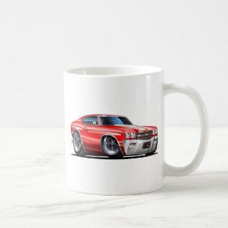 1970年のChevelleの赤白の車 コーヒーマグカップ