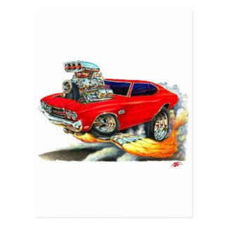 1970年のChevelleの赤車 ポストカード