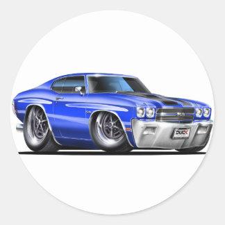 1970年のChevelleの青黒い車 ラウンドシール