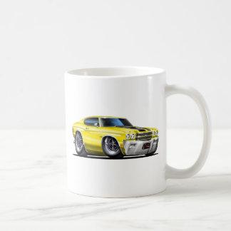 1970年のChevelleの黄色黒い車 コーヒーマグカップ
