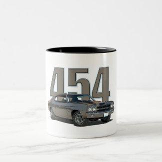 1970年のChevelle SSのコーヒー・マグ ツートーンマグカップ