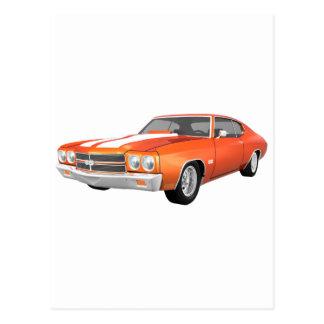 1970年のChevelle SS: オレンジ終わり: ポストカード