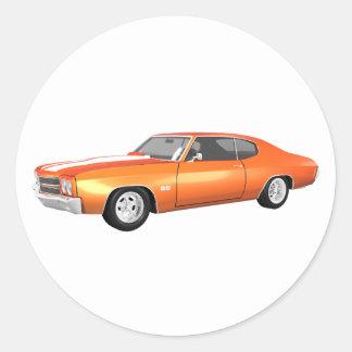 1970年のChevelle SS: オレンジ終わり: ラウンドシール
