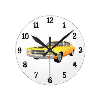 1970年のChevelle SS: 柱時計 ラウンド壁時計