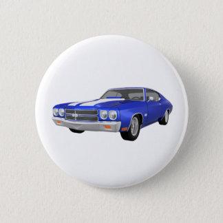 1970年のChevelle SS: 青い終わり: 5.7cm 丸型バッジ