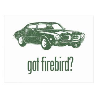 1970年のPontiac Firebird 400のラム空気 ポストカード