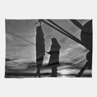 1970年を採取するヴィンテージ米国アラスカの浮遊物の飛行機 キッチンタオル