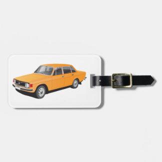 1970年代初期からの古いスウェーデン車 ラゲッジタグ