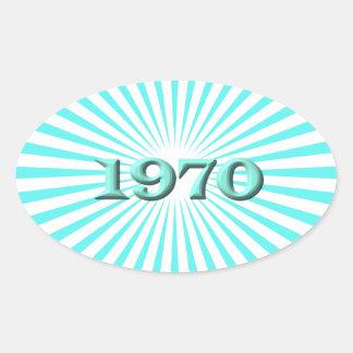1970年 楕円形シール