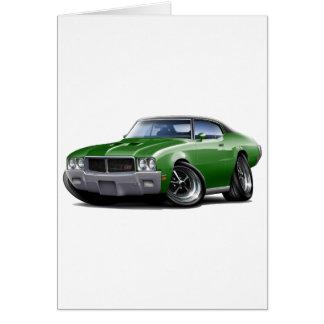 1970-72年のBuick GSの緑の黒い上車 カード