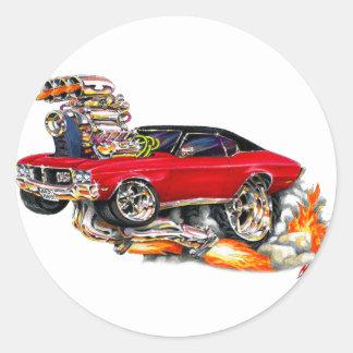 1970-72年のBuick GSの赤車 ラウンドシール