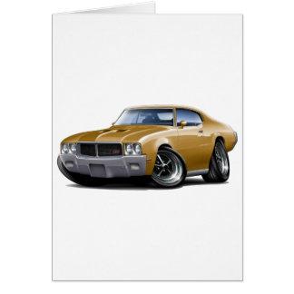 1970-72年のBuick GSの金ゴールド車 カード