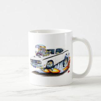 1970-74年のプリマスの塵払いの白車 コーヒーマグカップ