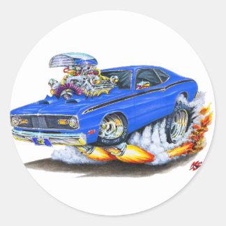 1970-74年のプリマスの塵払いの青車 ラウンドシール