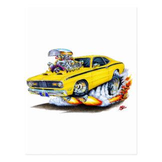 1970-74年のプリマスの塵払いの黄色車 ポストカード