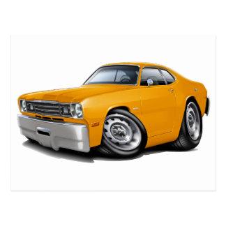 1970-74年の塵払いのオレンジ車 ポストカード