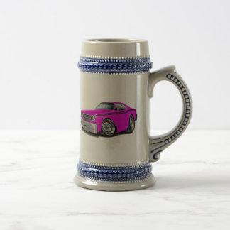 1970-74年の塵払いのピンク黒い車 ビールジョッキ