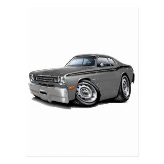 1970-74年の塵払いの灰色黒い車 ポストカード