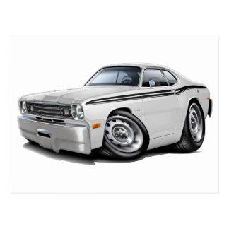 1970-74年の塵払いの白黒い車 ポストカード