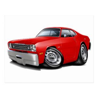 1970-74年の塵払いの赤車 ポストカード