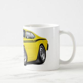 1970-74年の塵払いの黄色黒い車 コーヒーマグカップ