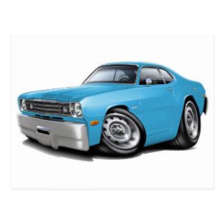 1970-74年の塵払いのLt Blue Car ポストカード