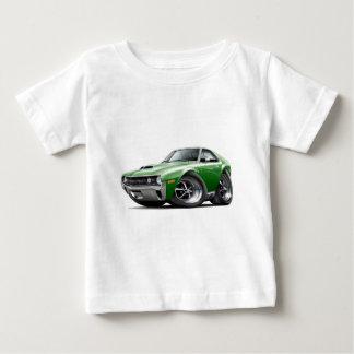 1970 AMXの緑白の車 ベビーTシャツ