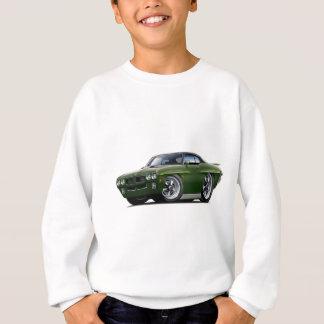 1970 GTOの裁判官の暗闇-緑-黒い上車 スウェットシャツ