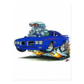 1970 GTOの裁判官の青車 ポストカード