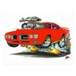 1970 GTOの赤車 ポストカード