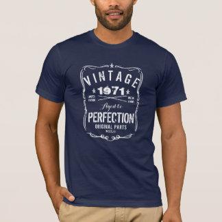 1971が完全さに老化したのでヴィンテージ Tシャツ