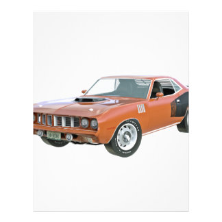 1971個のオレンジ筋肉車 レターヘッド